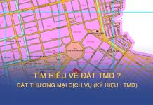 Ký hiệu loại đất TMD được thể hiện trên bản đồ quy hoạch sử dụng đất Thành phố mới Bình Dương