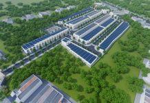 Phối cảnh tổng thể Khu đô thị Huỳnh Tiến Phát Residential