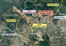 Sơ đồ các tuyến đường, cầu kết nối tới cảng Cái Mép – Thị Vải