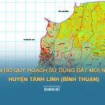 Tải về bản đồ quy hoạch sử dụng đất huyện Tánh Linh (Bình Thuận)