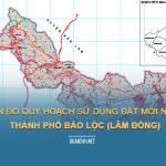 Tải về bản đồ quy hoạch sử dụng đất Thành phố Bảo Lộc (Lâm Đồng)