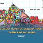Tải về bản đồ quy hoạch sử dụng đất Thành phố Bắc Giang