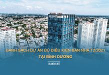 Danh sách các dự án đủ điều kiện bán nhà ở tại Bình Dương đến tháng 02/2021