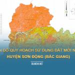 Tải về bản đồ quy hoạch sử dụng đất huyện Sơn Động (Bắc Giang)