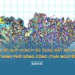 Tải về bản đồ quy hoạch sử dụng đất Thành phố Sông Công (Thái Nguyên)
