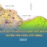 Xem bản đồ quy hoạch sử dụng đất huyện Tân Châu (Tây Ninh)