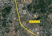 Tuyến đại lộ Lê Lợi, thành phố mới Bình Dương