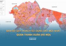 Tải về bản đồ quy hoạch sử dụng đất Quận Thanh Xuân (Hà Nội)