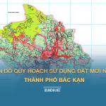 Tải về bản đồ quy hoạch sử dụng đất Thành phố Bắc Kạn