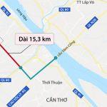 Sơ đồ tuyến đường nối An Giang - Tp Cần Thơ