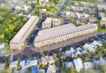 Phối cảnh tổng thể dự án Nhà phố Royal Town Dĩ An