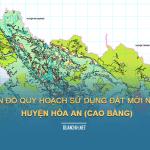 Tải về bản đồ quy hoạch sử dụng đất huyện Hòa An (Cao Bằng)