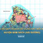 Tải về bản đồ quy hoạch sử dụng đất huyện Nam Sách (Hải Dương)