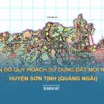Tải về bản đồ quy hoạch sử dụng đất huyện Sơn Tịnh (Quảng Ngãi)