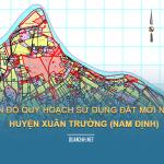 Tải về bản đồ quy hoạch sử dụng đất huyện Xuân Trường (Nam Định)