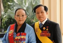 Vợ chông doanh nhân Lê Văn Kiểm và Trần Cẩm Nhung