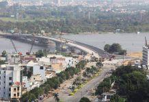Một đoạn sông Đồng Nai qua địa phận TP. Biên Hòa.