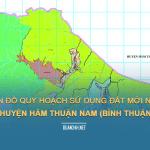 Tải về bản đồ quy hoạch sử dụng đất huyện Hàm Thuận Nam (Bình Thuận)