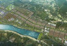 Phối cảnh tổng thể Khu đô thị mới Nam An lộc