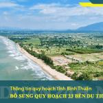 Bình Thuận bổ sung quy hoạch 23 bến du thuyền tại 7 huyện, thị, thành phố