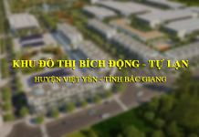 Dự án đô thị Bích Động - Tự Lạn có quy mô 33 ha tại huyện Việt Yên