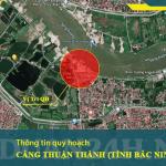 Vị trí quy hoạch cảng Thuận Thành (tỉnh Bắc Ninh)