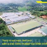 Thông tin các Khu (cụm) công nghiệp tại tỉnh Tuyên Quang