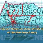 Tải về bản đồ quy hoạch sử dụng đất huyện Đầm Dơi (Cà Mau)