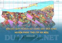 Tải về bản đồ quy hoạch sử dụng đất huyện Phúc Thọ (Hà Nội)